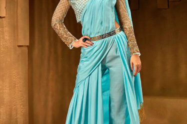 Saree in indo western style