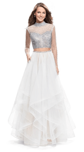Bedazzled tulle dress